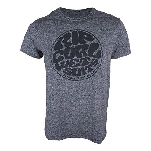 Camiseta Rip Curl Sunoff UV Wetty Chumbo Mescla-M