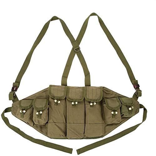 Coole atletiek Canvas vest tactische vest militaire munitie dozen rig tijdschrift carrier battle jacht vesten jacht accessoires Army Bag Platform Training hjm zhanshubeixin (Color : Green)