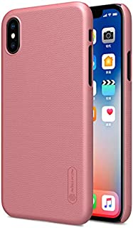 Nillkin iPhone X/iPhone XS Mobile Cover Super Frosted Hard Shield Phone Case - Pink