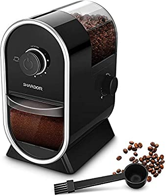 SHARDOR Electric Burr Coffee Grinder Mill 2.0 with 16 Adjustable Grinding, Coffee Grinders with 2-12 Cup, Black