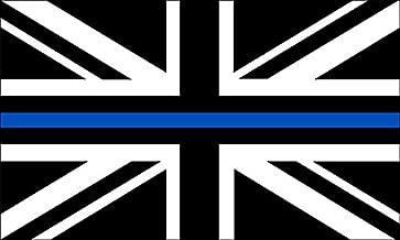 American Vinyl Black Jack Thin Blue LINE Sticker (Union Police cop UK bw Flag British Britain)