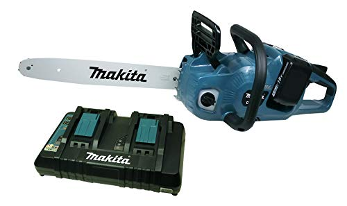 Makita DUC 353 Akku Kettensäge mit Doppelladegerät + 2 x Akku 5 Ah