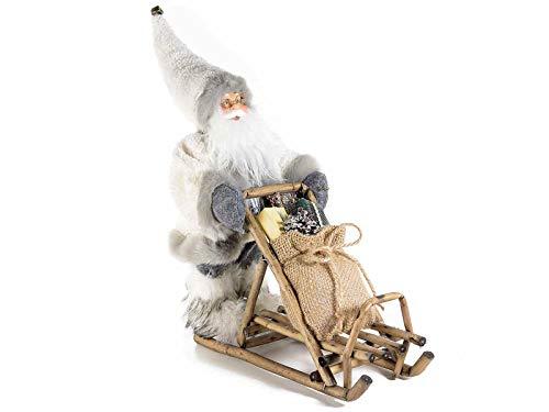 Gruppo Maruccia Babbo Natale su Slitta Decorazione per casa e vetrine