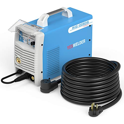 YESWELDER Digital MIG-205DS MIG Welder,200Amp 110/220V Dual Voltage MIG/Lift TIG/ARC 3 in 1 Welder&8AWG 40ft Welder Extension Cord