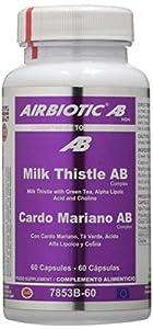 Airbiotic AB Cardo Mariano AB Complex, Cápsulas hierbas para la función hepática, 60 cápsulas