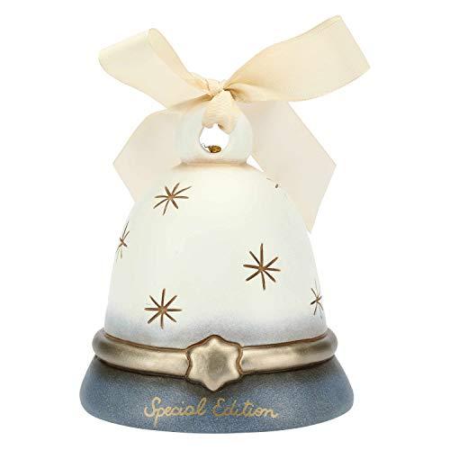 THUN ® - Campanella Bianca e Azzurra cerbiatti Special Edition - Ceramica - 7,9x7,2x7,2 cm h