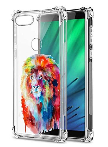 Suhctup Funda Transparente Compatible con Xiaomi Redmi Note 5A,Ultrafina Antigolpes TPU Suave Silicona Cuatro Esquinas Reforzado Resistencia Caídas Lindo Animal Pintado Patrón Diseño Caso