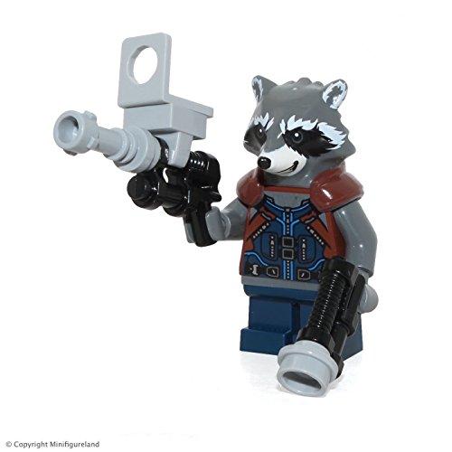LEGO Rocket Raccoon - Dunkelblaues Outfit Minifigur