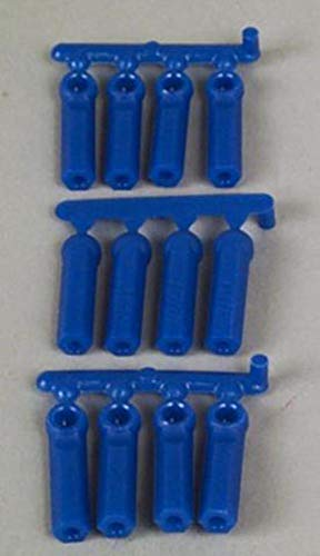 RPM Long Shank 4-40 Rod Ends (12), Blue