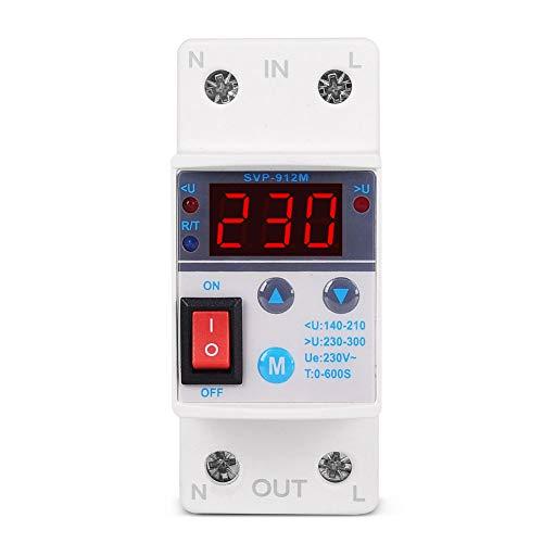 Bajo Sobre El Voltaje Protector Svp-912m Ajustable Inteligente Automático Protección Contra Sobretensión Conectar De Nuevo (80a)