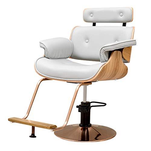 WYJW Sedia da Design Regolabile - Sedia da scrivania con Schienale Alto con Supporto Lombare - Sedile Regolabile in Altezza, poggiatesta - Cuscino del Sedile in pu con poggiapiedi, GRIG