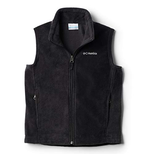 Columbia Big Boys' Steens Mountain Fleece Vest, Black, Large