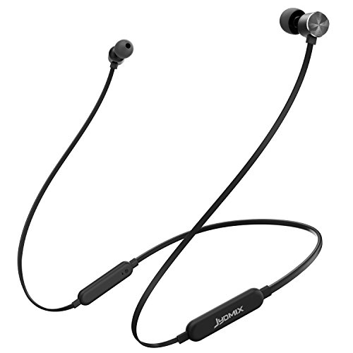 Bluetooth Headphones Neckband, JYDMIX Sports Sweatproof Wireless Earphones for Running Workout, in-Ear Magnetic Earbuds with Microphone, CVC 6.0 Noise Cancelling, aptX Stereo Sound (Black)