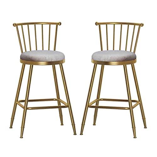 Juego de 2 taburetes de bar para cocina, sillas acolchadas s