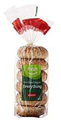 Fresh Brand – Everything Pre-Sliced Bagels, 21 oz (6 ct)
