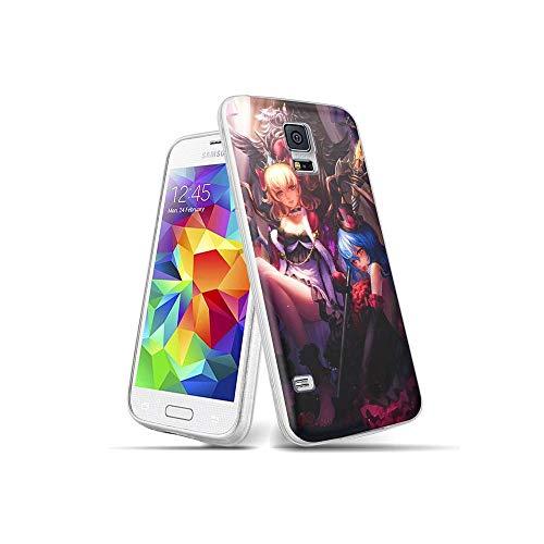 MinSA CC Samsung Galaxy S5 Funda, patrón diseño Transparente a Prueba de Golpes con Suave TPU Parachoques Protector Cubierta del teléfono para Samsung Galaxy S5 005#D