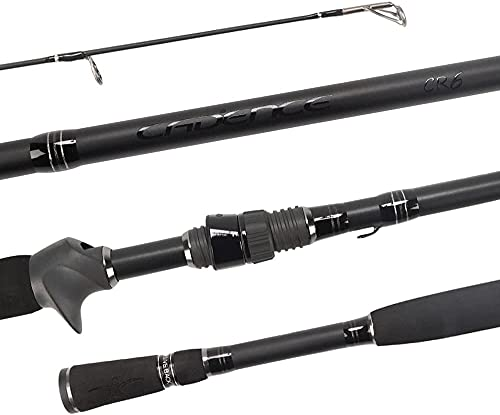 Cadence CR6B Baitcasting Rods Fast Action Fishing Rods Lightweight Portable Casting Rods with 30 Ton Carbon Exposed Blank Reel Seat Stainless Steel Guides with SiC Inserts Baitcast Rods(CR6-662B-MF)