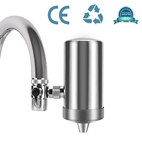 YJHome Depuratore Acqua Rubinetto | 304 Risparmio di Acqua in Acciaio Inossidabile Filtro per l'acqua del Rubinetto, Sistema di filtrazione dell'Acqua Sano e di qualità Accessori da Cucina