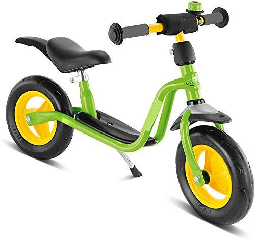 3 Jahre alt und 4 Jahre alt Kinder Balance Fahrrad 12 Zoll Junge und Mädchen Balance Bike Light Kind Fahrrad Gehen Fahrradhöhe Einstellbar,Green