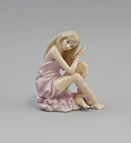 Porzellan-Figur Sitzender Akt mit Tuch Tänzerin