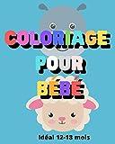 Coloriage pour bébé. Idéal 12-18 mois: Les premiers coloriages de bébé.
