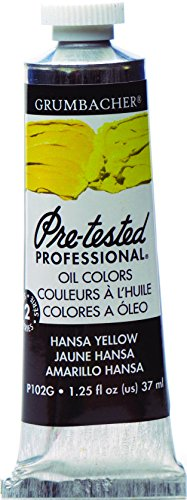 Grumbacher Pre-Tested Oil Paint, 37ml/1.25 oz., Hansa Yellow (P102G)
