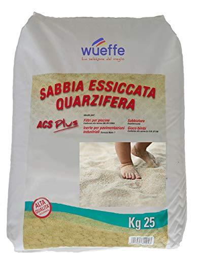 WUEFFE Sabbia Gioco Bambini certificata A.C.S. - Sacchi da kg. 25 - sabbiera Bimbi (1 Sacco da kg.25)