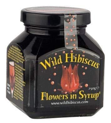 Fleurs dhibiscus originales au sirop pour cocktails et cuisine raffinée, verre à 9 fleurs, 250gr