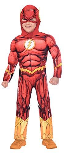 Disfraz de disfraces Flash de superhéroe para niños Edad: 10-12 años