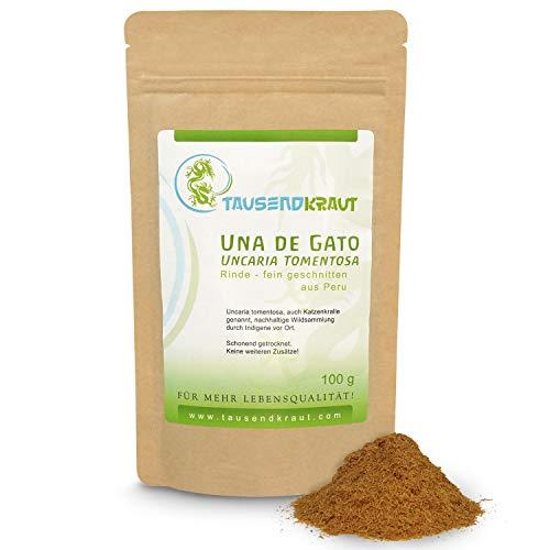 Tausendkraut PREMIUM Una de Gato - 100g - Uncaria tomentosa Rinde - Katzenkralle - Hohe Produktsicherheit - Faire Wildsammlung und Handel - Aus Wildsammlung in Peru - Nachhaltig und natürlich