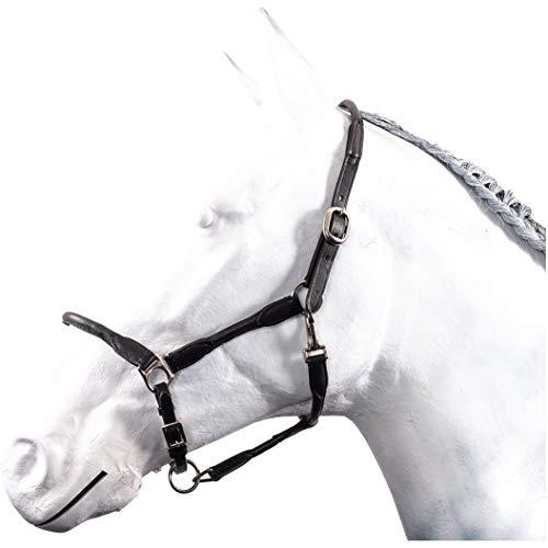 HKM by Reiterladen24 - Halfter Leder rundgenäht BASICLINE schwarz Pony