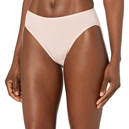 Amazon Essentials Cotton Stretch High-Cut Bikini Panty Underwear, Stars & Dots, M