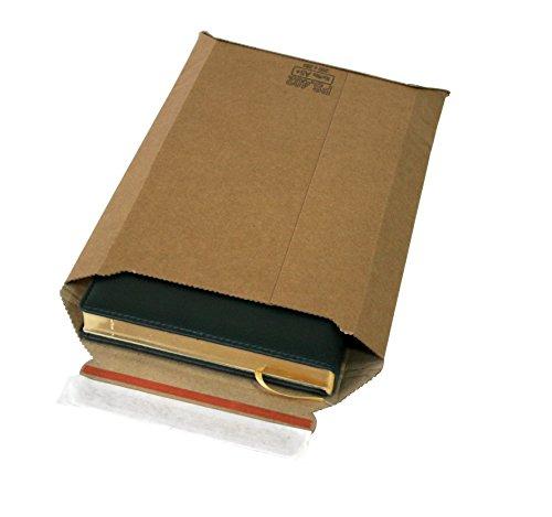 Versandtaschen Premium aus Mikro-Wellpappe Karton DIN A4 - flach:353x250mm / aufgestellt 325x200x50mm (PS.403) (50)