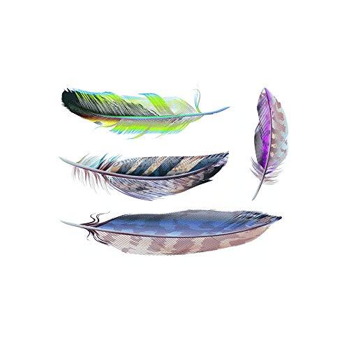 WANLIAN Calcomanías de plumas para coche DIY personalizado 3D plumas pegatinas de arañazos decoración coche pegatinas de plumas de coche (4 juegos)