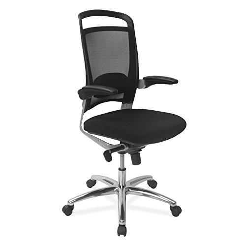 NILKAMAL Opera MID Back Office Chair, Black