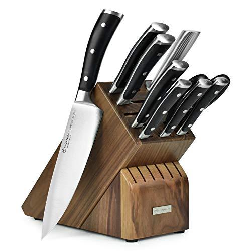 Wusthof Classic Ikon 10 Piece Knife Set with Walnut Block