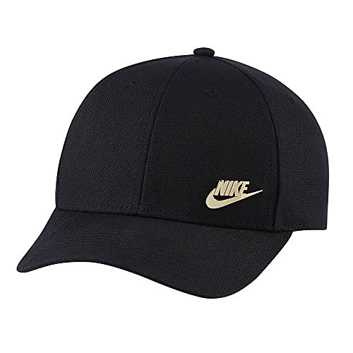 NIKE ナイキ L91メタル スウォッシュ キャップ サイズ調整可能 バックベルト 帽子 スポーツ (ブラック) [並行輸入品]