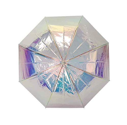 Goods4good Paraguas Que Cambia de Color con la luz, Metalizado/Plateado con diámetrode 105cm, automático, Resistente al Viento, para Mujeres Chicas Hombres Regalo