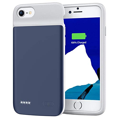 Battery Case for iPhone 8 7 6s 6, 3200mAh Portable Rechargeable Protective Charging Case Extended Battery Pack Charger Case Compatible with iPhone 8 7 6s 6 (4.7 inch) (Blue)