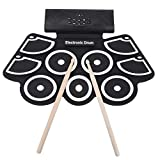 12 Demo Songs 2 Stereo Speakers 9 Groups of Accompaniment 2 Drum Pedals Electronic Drum Roll-Up Drum 9 Beat Pads for Sound Equipment Audio Input