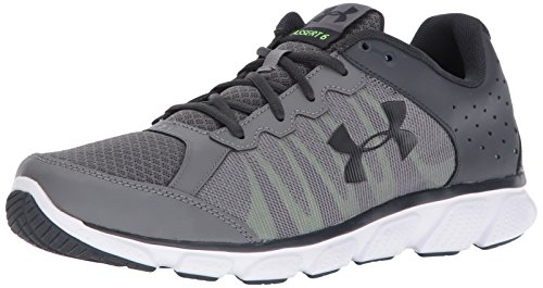 Under Armour Men's Micro G Assert 6 Running Shoe, Graphite (103)/Quirky Lime, 8