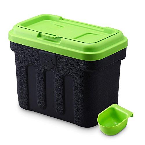 Maelson Dry Box - schwarz / grün - Vorratsbehälter für Trockenfutter, 7.5kg