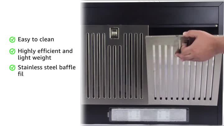 Inalsa-60-cm-Pyramid-Chimney-Classica-60BKBF-with-SS-Baffle-FilterPush-Button-Control-Black