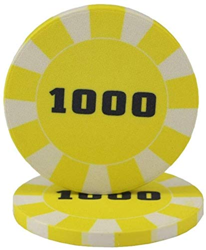 25pcs / Lot Ceramic Poker Chips Fripe Poker Chip Taxes Hold'em Poker Chips Personalice Chip 10G / PC (Color: 20)