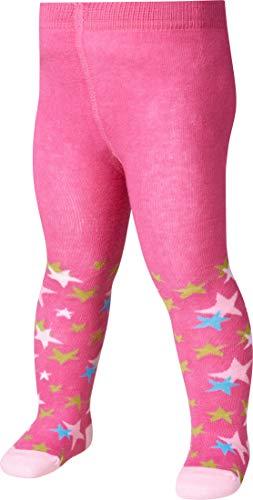 Playshoes Mädchen Sterne, Textiles Vertrauen nach Oeko-Tex Standard 100 Strumpfhose, Rosa (pink 18), 98 (Herstellergröße: 98/104)