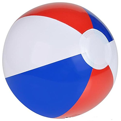 Neliblu Patriotic Inflatable Beach Balls, Colorful Party Supplies Beach Ball Pool Party Favor Ball for Kids Toddlers and Adults, 12