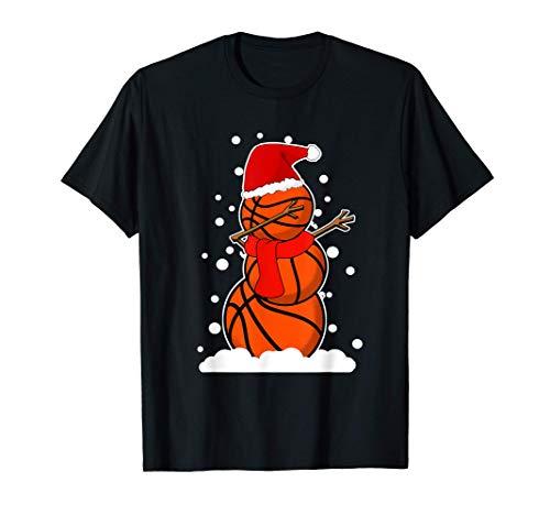 Dabbing Basketball Spieler T-Shirt Sport Schneemann Nikolaus T-Shirt