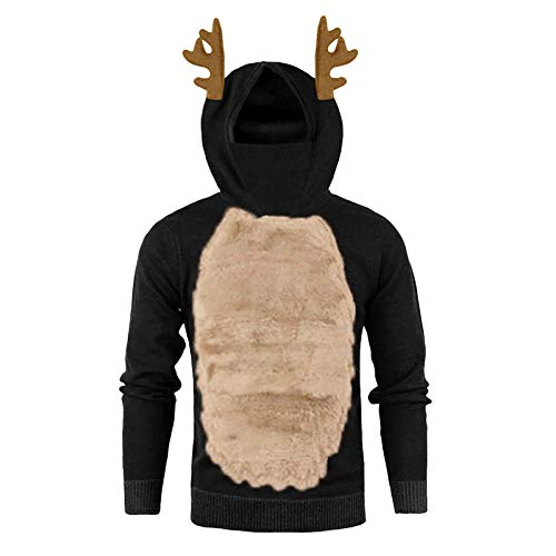 Mens Facemask Skull Pure Color Pullover Hoodies Long/Short Sleeve/Sleeveless Hooded Sweatshirt Tops Shirt Blouse with Side Half Zipper