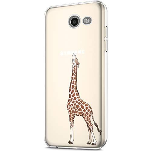 Galaxy J3 Emerge Case,Galaxy J3 Prime/J3 Luna Pro/J3 Eclipse Case,Galaxy Express/Amp Prime 2 Case,Clear Soft TPU Transparent Flexible Rubber Gel TPU Case Cover for Galaxy J3 2017 Case,Giraffe
