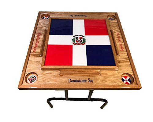 Discover Bargain Dominican Republic Domino Table with the Flag Full